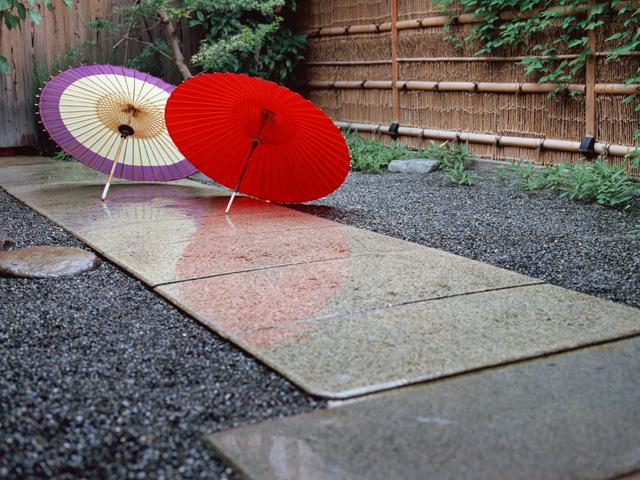 街コンレポート_2種類の和傘