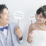 街コンレポート_Will you marry me?、Yesというプロップスを持っている新郎新婦